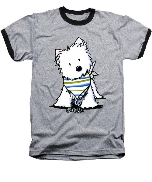 Kiniart Westie Terrier Baseball T-Shirt