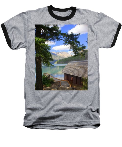 Kintla Lake Ranger Station Glacier National Park Baseball T-Shirt