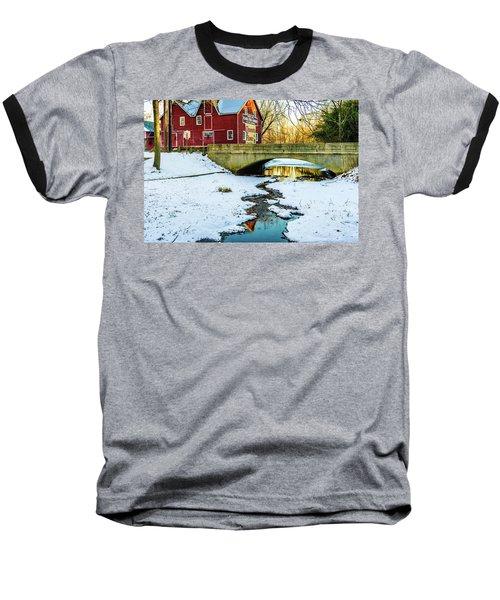 Kirby's Mill Landscape - Creek Baseball T-Shirt