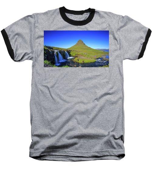 Baseball T-Shirt featuring the photograph Kirkjufell Iceland by Edward Fielding