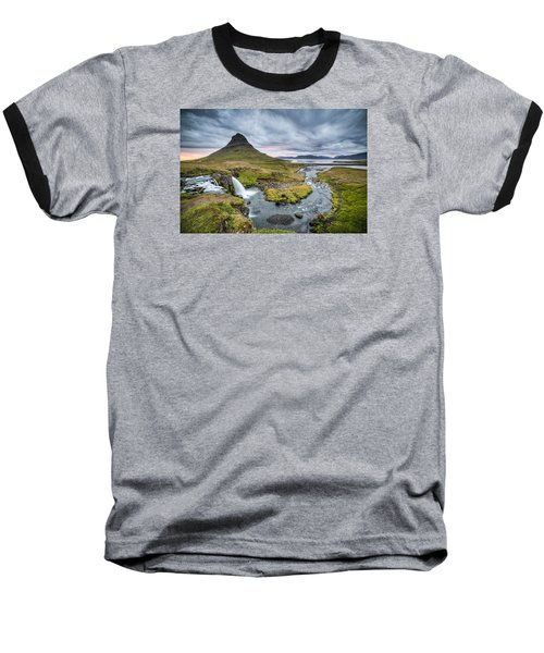 Kirkjufellsfoss 1 Baseball T-Shirt by Brad Grove