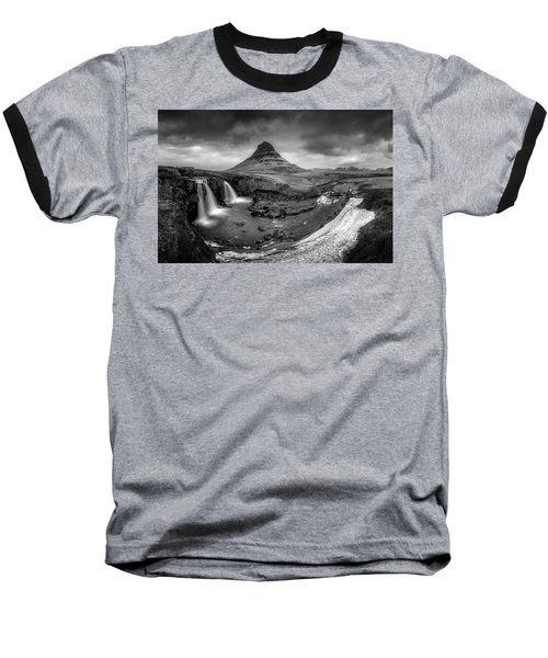 Kirkjufellsfoss Dawn Monochrome  Baseball T-Shirt