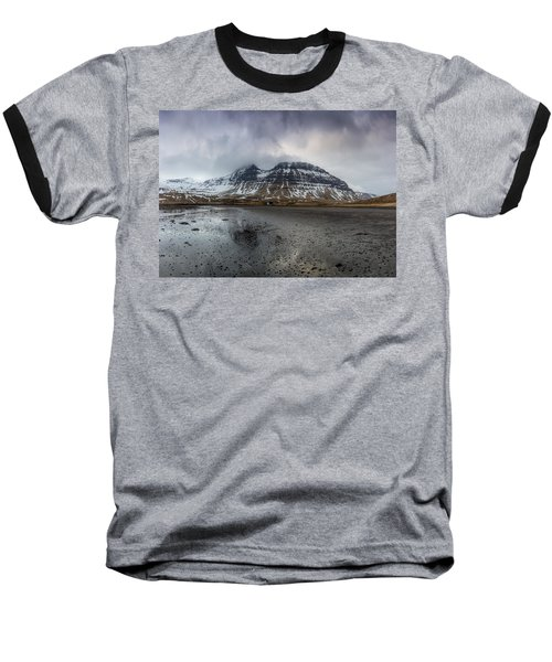 kirkjufellsfoss From Black Beach Baseball T-Shirt