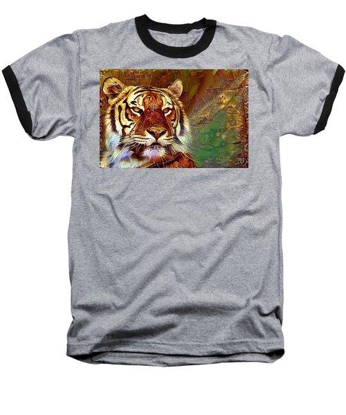 Baseball T-Shirt featuring the photograph  Kisa  by Geri Glavis