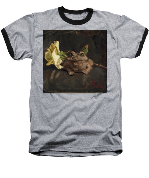 Baseball T-Shirt featuring the painting Kiss Me And Find Out by Billie Colson