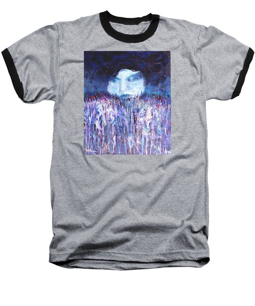 Baseball T-Shirt featuring the painting Kiss Of The Silver Moon by Seth Weaver