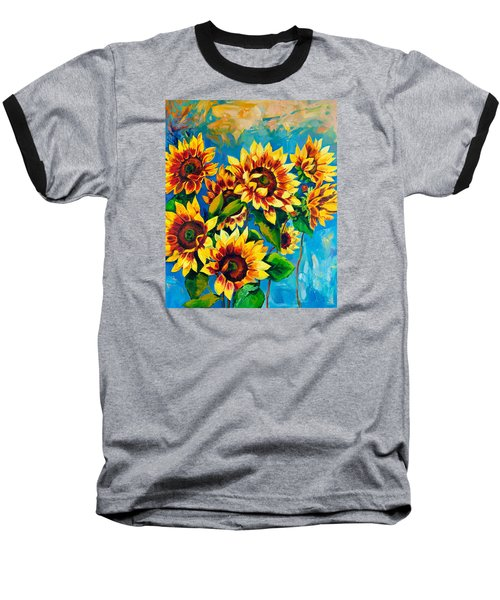 Baseball T-Shirt featuring the painting Kissed By God by Karen Showell