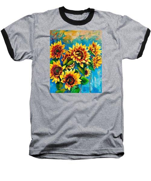 Kissed By God Baseball T-Shirt by Karen Showell