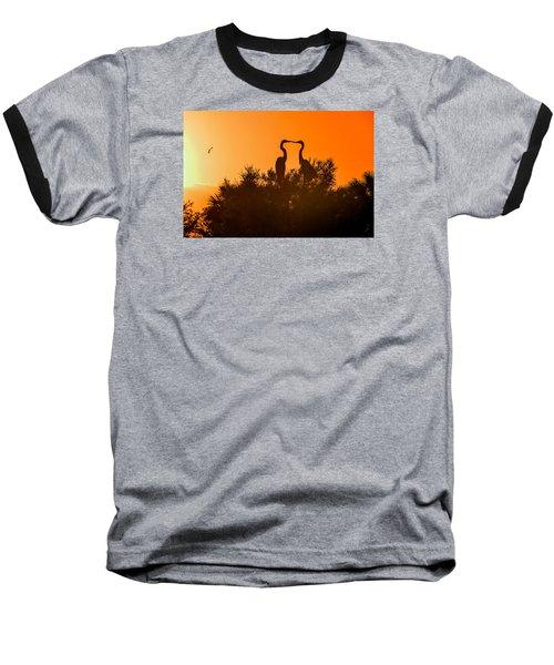 Kissing Herons  Baseball T-Shirt