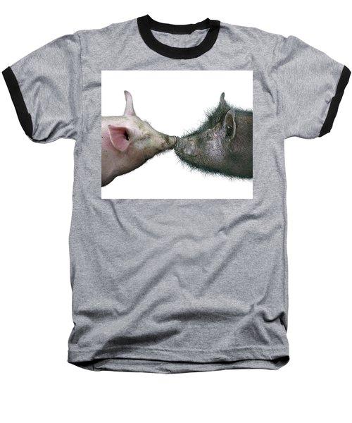 Kissing Pigs Baseball T-Shirt