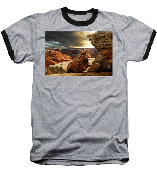 Baseball T-Shirt featuring the photograph Kissing Rocks by Harry Spitz