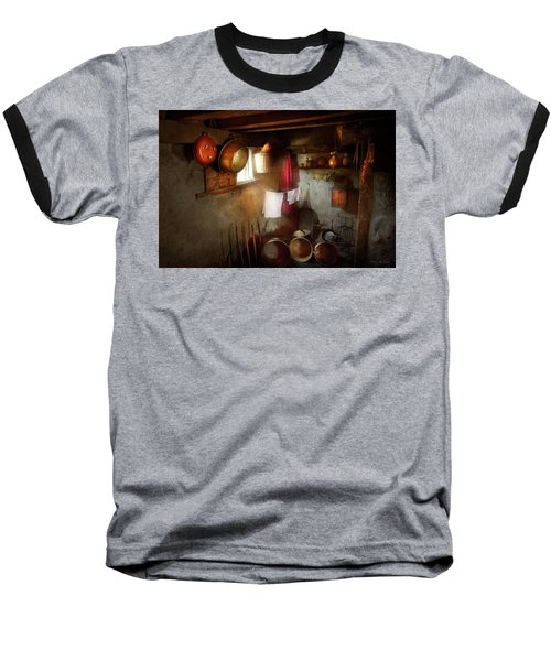 Baseball T-Shirt featuring the photograph Kitchen - Homesteading Life by Mike Savad