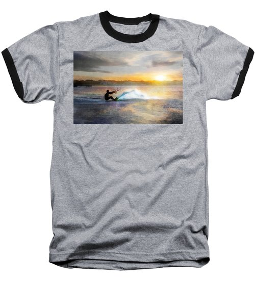 Kite Boarding At Sunset Baseball T-Shirt