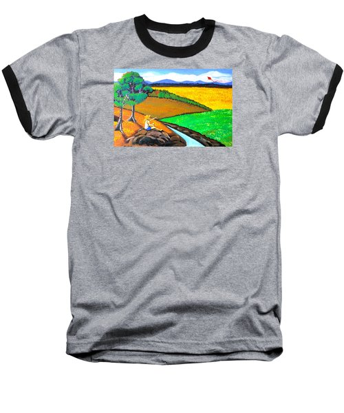 Baseball T-Shirt featuring the painting Kite by Cyril Maza