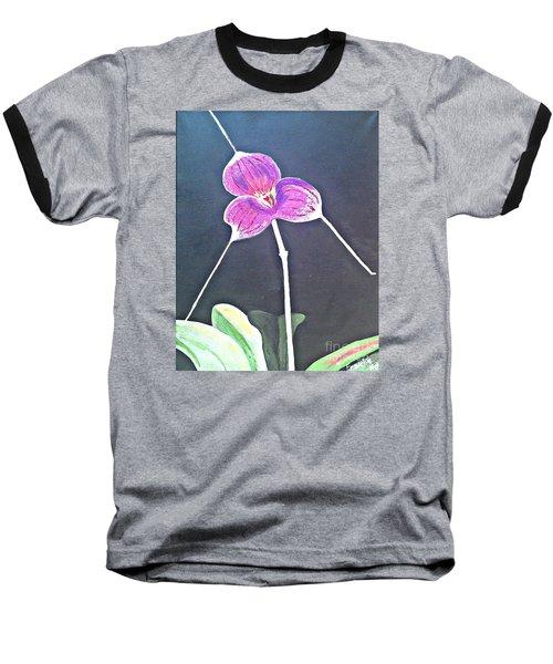 Kite Orchid Baseball T-Shirt by Francine Heykoop