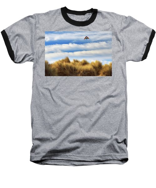 Baseball T-Shirt featuring the photograph Kite Over The Hill by James Eddy