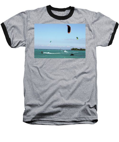 Kite Surfers And Maui Baseball T-Shirt