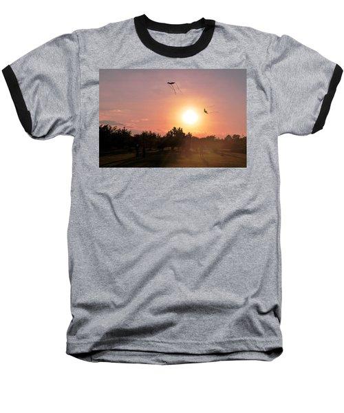 Kites Flying In Park Baseball T-Shirt