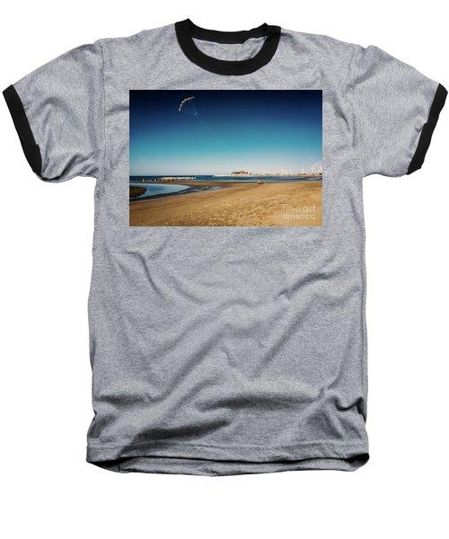 Kitesurf On The Beach Baseball T-Shirt