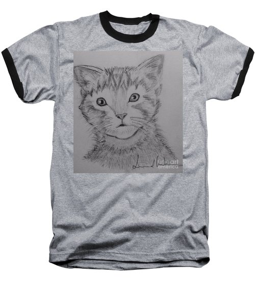 Kitten Baseball T-Shirt by Brindha Naveen
