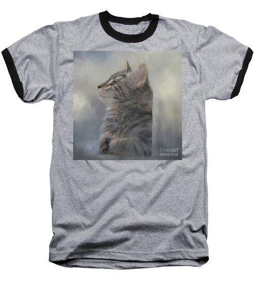 Kitten Zada Baseball T-Shirt by Kathy Russell
