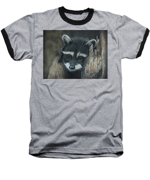 Kit...the Baby Raccoon Baseball T-Shirt