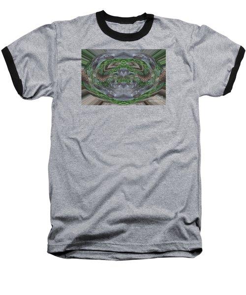 Kitty Abstract  Baseball T-Shirt