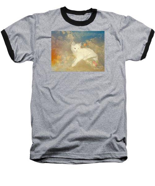 Kitty Art Precious By Sherriofpalmsprings Baseball T-Shirt by Sherri's Of Palm Springs