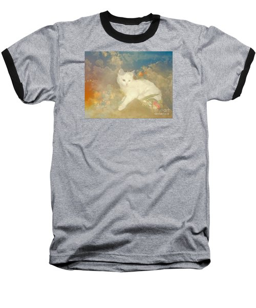 Kitty Art Precious By Sherriofpalmsprings Baseball T-Shirt