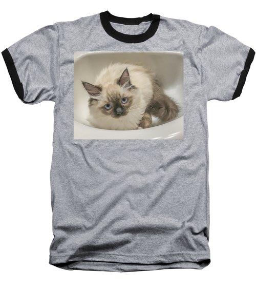 Kitty Blue Eyes Baseball T-Shirt