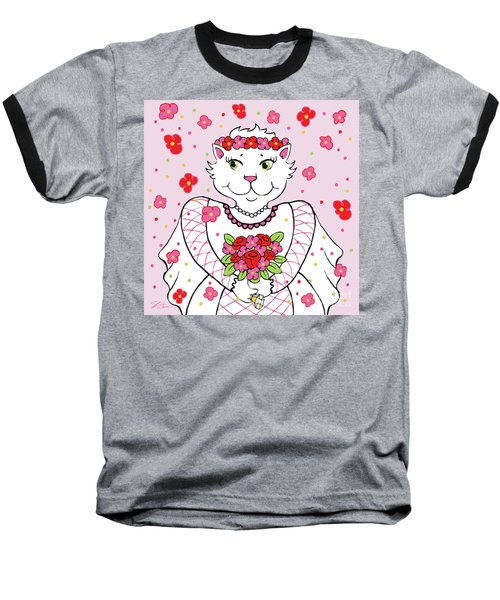 Kitty Bride Baseball T-Shirt