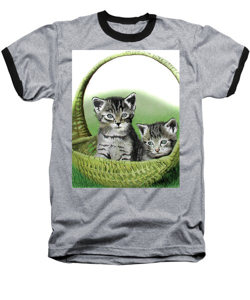 Kitty Caddy Baseball T-Shirt by Ferrel Cordle