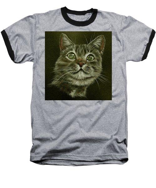 Kitty Cat Baseball T-Shirt by Heidi Kriel