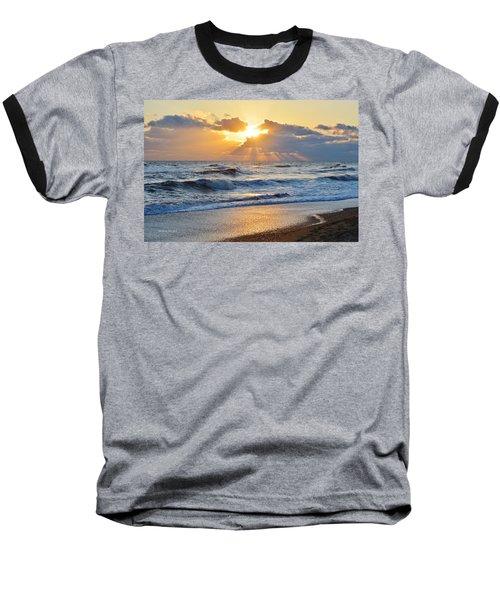 Kitty Hawk Sunrise Baseball T-Shirt