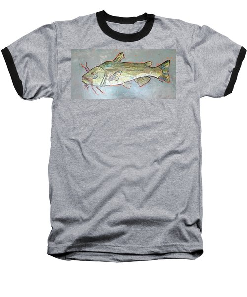 Kitty The Catfish Baseball T-Shirt