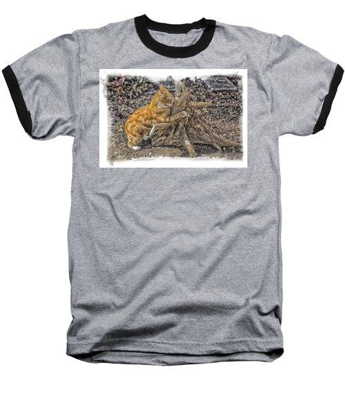 Kitty Thinking Of Mischievous Things Baseball T-Shirt