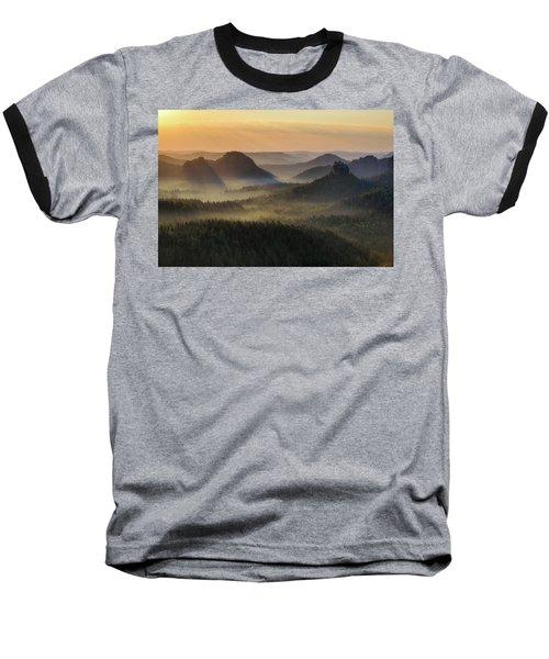 Kleiner Winterberg Silhouettes, Saxon Switzerland, Germany Baseball T-Shirt