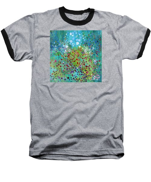 Baseball T-Shirt featuring the painting Klimt's Garden by Stacey Zimmerman