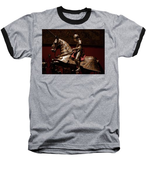 Knight And Horse In Armor Baseball T-Shirt