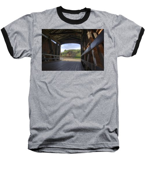 Knights Ferry Covered Bridge Baseball T-Shirt