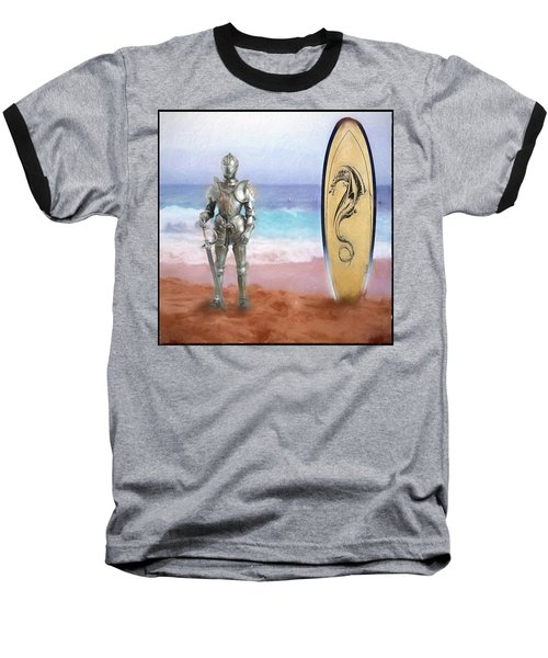 Baseball T-Shirt featuring the painting Knights Landing by Michael Cleere