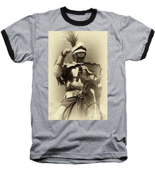 Knights Of Old 16 Baseball T-Shirt by Bob Christopher