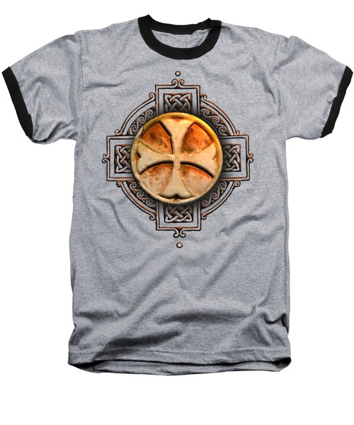 Knights Templar Symbol Re-imagined By Pierre Blanchard Baseball T-Shirt