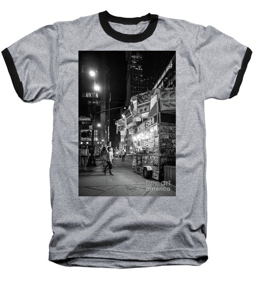 Knish, New York City  -17831-17832-bw Baseball T-Shirt by John Bald