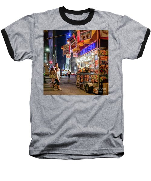 Knish, New York City  -17831-17832-sq Baseball T-Shirt by John Bald