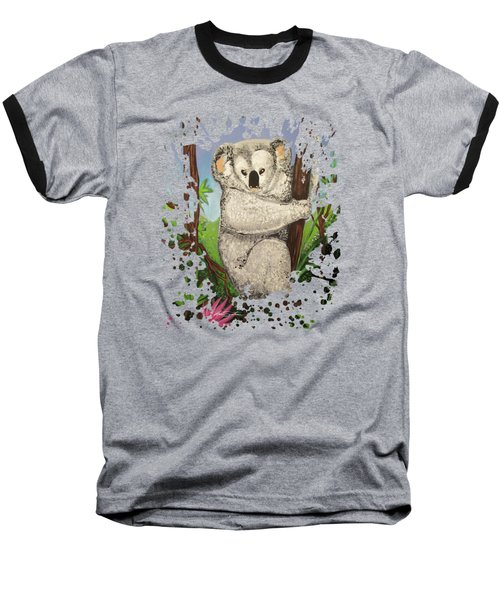 Koala Baseball T-Shirt by Adam Santana
