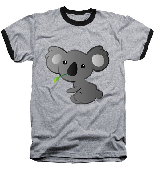 Koala Baseball T-Shirt by Hadeel ArT