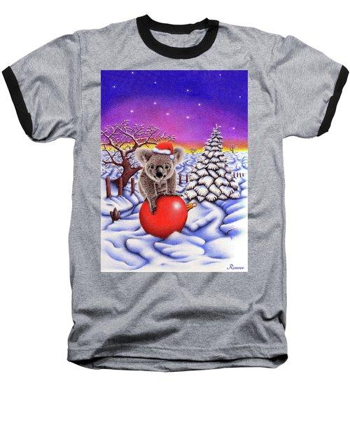Koala On Christmas Ball Baseball T-Shirt
