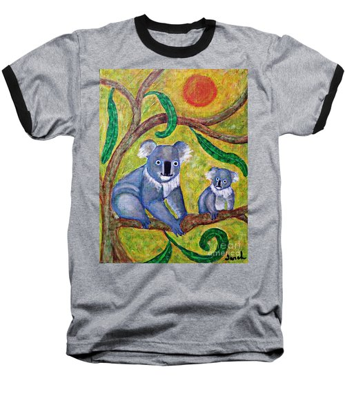 Koala Sunrise Baseball T-Shirt by Sarah Loft