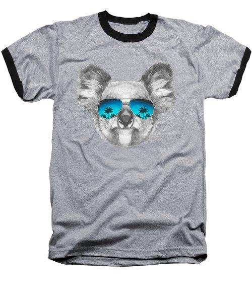 Koala With Mirror Sunglasses Baseball T-Shirt